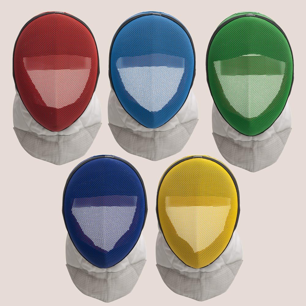 Colorierte Comfort FIE-Florettmaske
