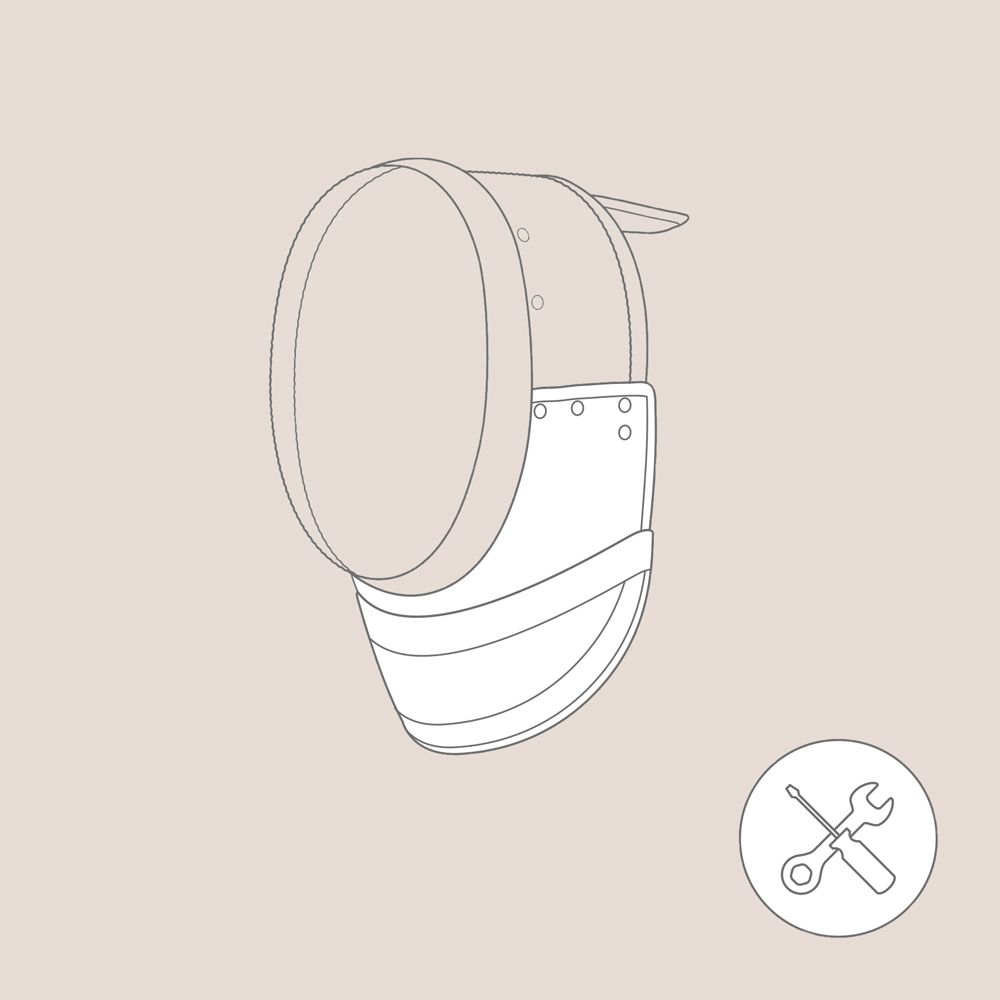 Replacement of the Bib FIE Epee Mask
