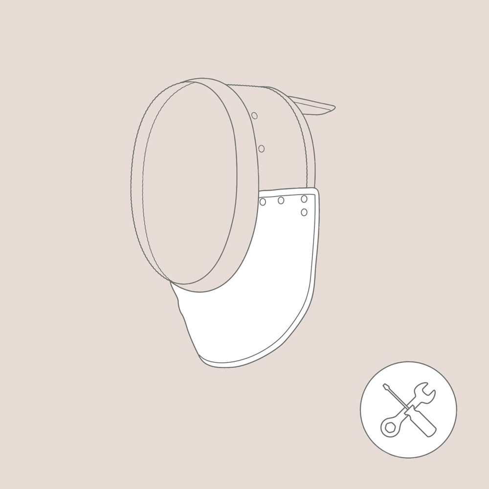 Replacement of the Bib Epee Mask 350 N